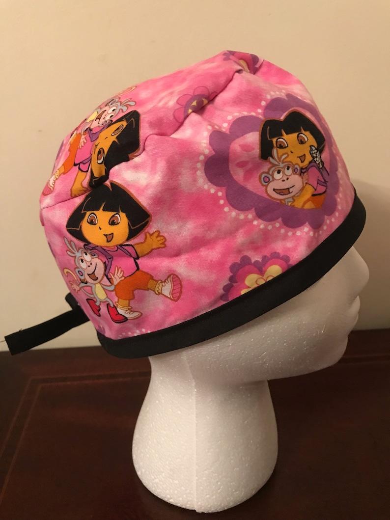 Men/'s Surgical Scrub Cap  Hat Dora the Explorer One Size Fits Most