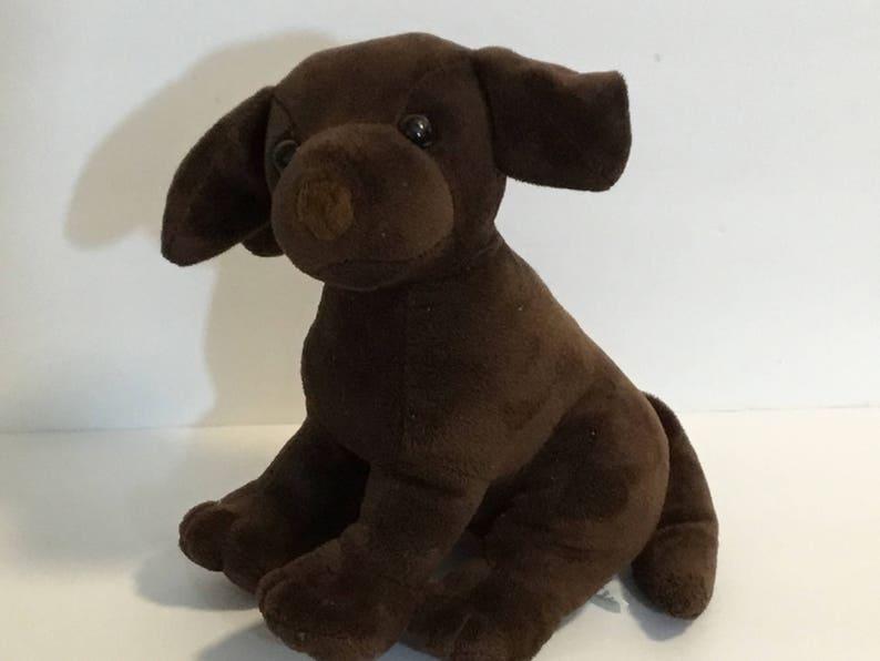 25fc9947f518 FAO Schwarz Plush Brown Dog Puppy 8 Lgth Stuffed Animal | Etsy
