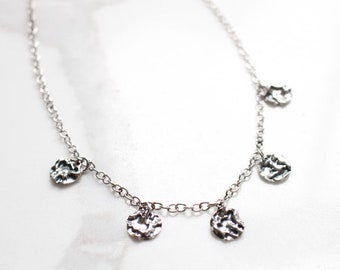Selenophile Jewelry Ritual Jewelry Wiccan Jewelry Crescent Moon Necklace Many Moons Necklace Wiccan Necklace Silver Necklace