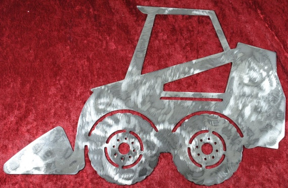 Mini Skid Steer, Metal Mini Skid Steer, Metal Heavy Equipment, Metal Wall Art, Metal Decor, Earth Shovel, Man Cave, Gift for Him, Great Gift