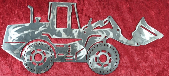 """Front End Loader 16"""", Heavy Equipment, Metal Front End Loader, Heavy Equipment Operator, Construction Equipment, Man Cave, Gift for Him"""