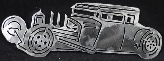 "32 Ford Rat Rod 10"", Metal Ford Car, Metal Decor, Metal Wall Art, Home Decor, Office Decor, Collecters Car, Auto Memorabilia, Automotive Art"