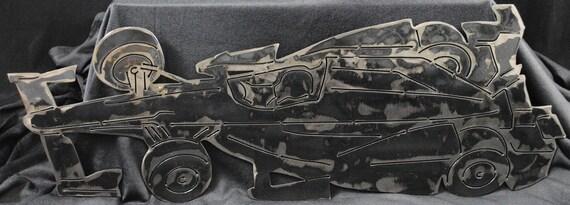 Racing Car Metal Wall Art Decor, Racecar Room Decor, Race Car Drivers, Car Races, Fast Cars, Gift for Race Car Drivers, Car Art, For Him