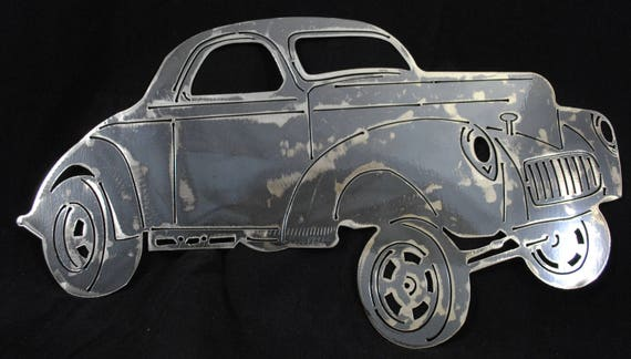 1941 Willys Gasser, 1941 Auto Art, 1941 Memorabilia, Hot Rod, Classical Car, Collectors Car, Man Cave, Metal Wall Art Decor, Automotive Art