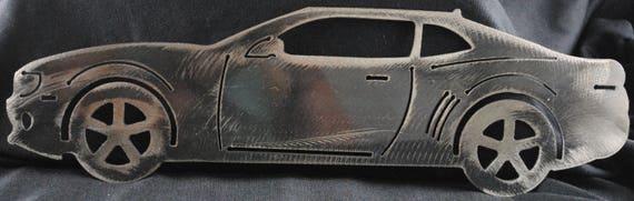 "2011 Chevy Camaro side view 16"", Luxury Car, Sports Car, Metal Car, Metal Car Art, Metal Decor, Metal Chevy Car, Metal Art, Automotive Art"