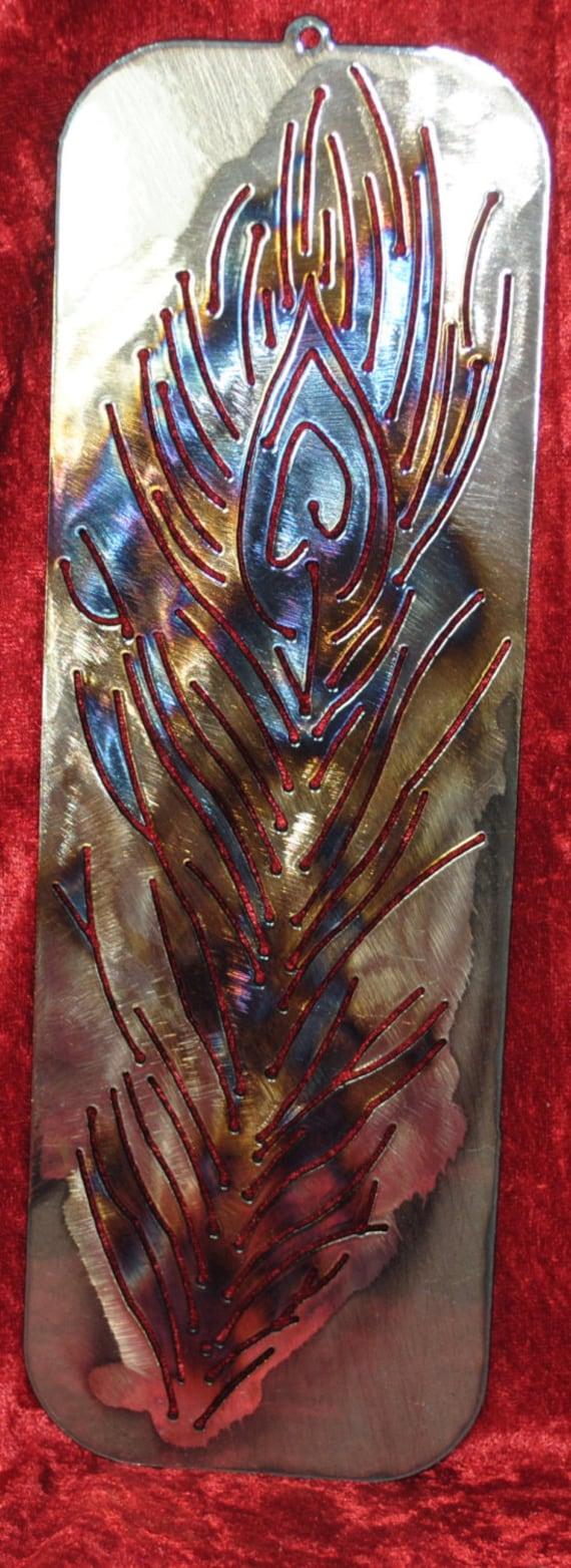 Peacock Feather cut in Style 2, Bird, Peacock, Peafowl, African Bird, Asiatic Bird, Metal Peacock Feather, Metal Wall Art, Metal Decor, Gift