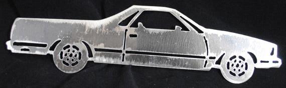 "1978 Chevy El Camino 12"", Metal Chevy El Camino, Metal Car, Metal Wall Hanging, Auto Memorabilia, Home Decor, Office Deocr, Automotive Art"