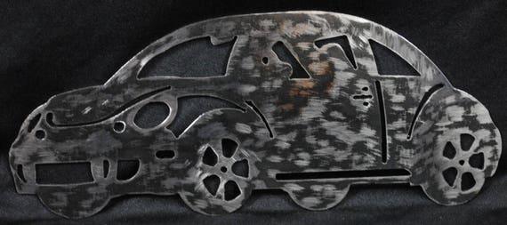 "2011 Volts Wagon Bug 12"", Metal Volts Wagon Bug, Metal Car, Metal Car Wall Hanging, Home Decor, Office Decor, Gift for Him, Automotive Art"