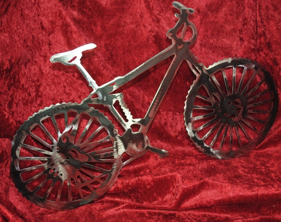 Mountain Bike, Old School 10 Speed, Wall Art Hanging, Metal Art, Metal Bicycle Art, Bicycle Enthusiast, Mountain Bicycle Rider Gift