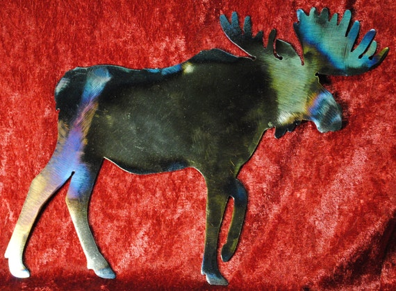Moose Walking, Wall Hanging, Nature, Woodland Animal, Moose, Hunter