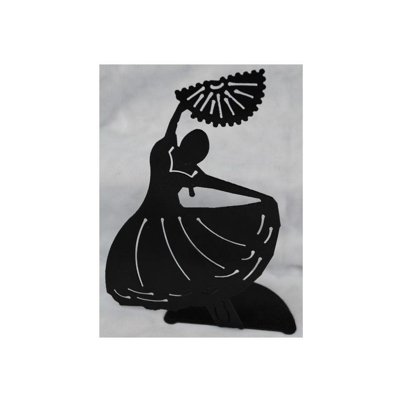 Flamenco Dancer Metal Tabletop Art