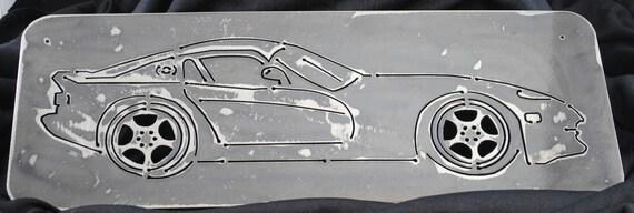 2000 Dodge Viper, Metal Wall Art Decor, Wall Hanging, Metal Viper, Metal Decor, Car Decor, Wall Art, Gift for Him or Her, Automotive Art
