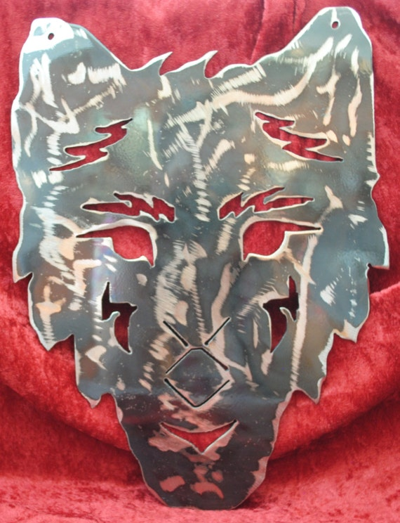 Wolf Face, Metal Wolf Art, Indoor Metal Wall Art, Outdoor Metal Wall Art, Wolf Art, Metal Decor, Wolf Lovers Gift, House Warming Gift