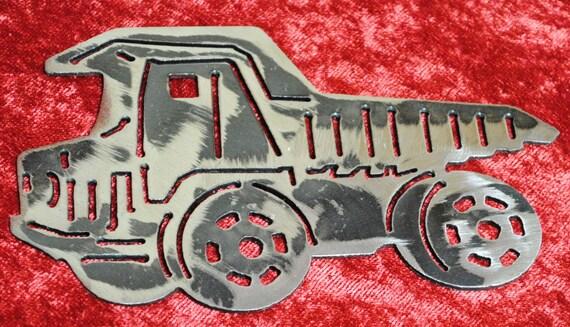 Kids Dump Truck, Wall Hanging, Heavy Equipment, Boys Room, Childs Room, Gift for Child, Gift for Boy, Gift for Him, Heavy Equipment Art Gift
