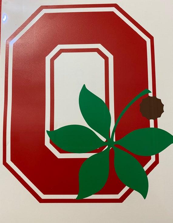 Ohio State Block O And Buckeye Leaf Vinyl Decal Etsy