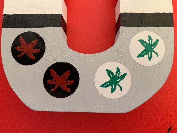 Buckeye Leaf Helmet Sticker Etsy