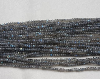 "3 strands of Labradorite rondelle fact 4mm 13"" each"