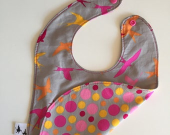 Bib for the snack in cotton and reversible