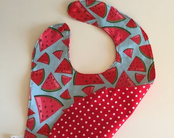 The snack in cotton and reversible bib