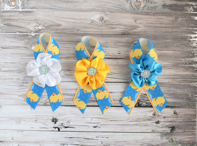 Rubber Duck Baby Shower Duck Guest Pin Yellow Blue Rubber Etsy