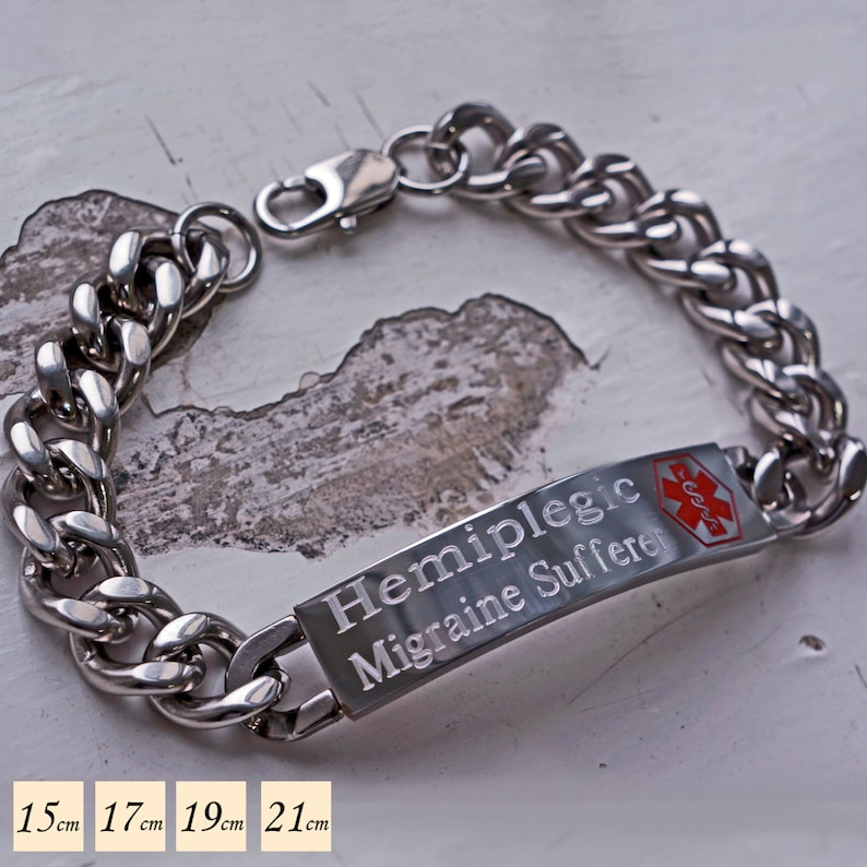 Men's Medical Alert Bracelet - Medical ID Bracelet - Emergency Bracelet