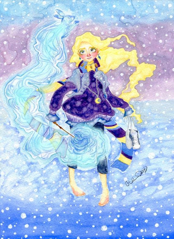 Luna Lovegood Watercolour Art Painting Illustration Drawing Etsy