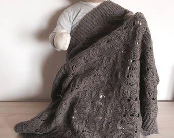 Merino and cashmere baby blanket