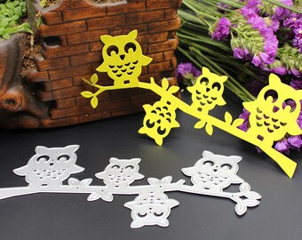 5 Owl Metal Cutting Dies Stencils DIY Scrapbooking Decorative Craft Cards