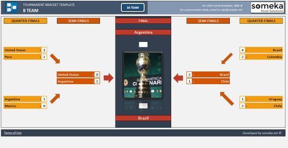 Tournament bracket generator excel