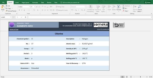 Periodensystem Arbeitsblatt druckbare Excel-Vorlage | Etsy