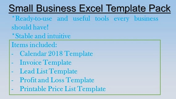 small business price list template