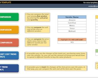 Cost Comparison Template - Provider Cost Comparison - Comparison Tables - Cost Comparison - Vendor Table