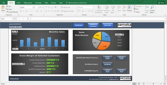sales report template excel dashboard for sales managers etsy