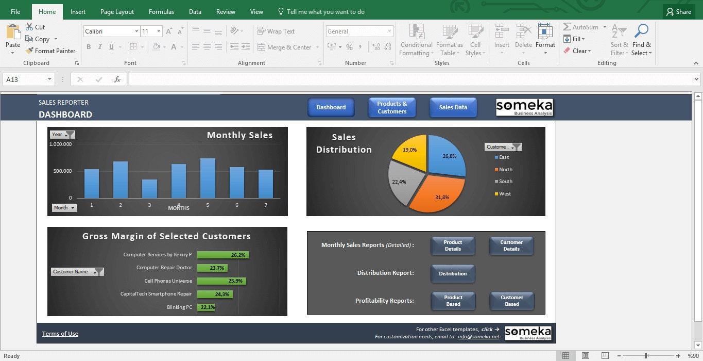 Vertrieb Report-Vorlage Excel-Dashboard für Sales Manager | Etsy