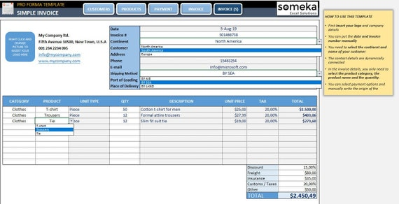 Proforma Invoice Excel from i.etsystatic.com