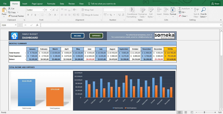 Familienbudget Excel Budget-Vorlage für Haushalt Planung | Etsy