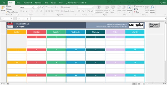 excel calendar template 2019 printable spreadsheet. Black Bedroom Furniture Sets. Home Design Ideas