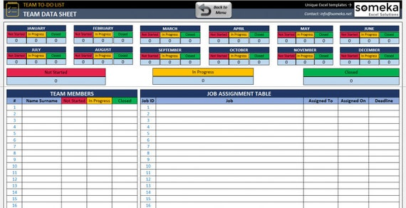 Team To Do List Template Excel Template