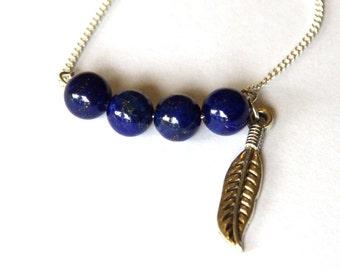 Lapis lazuli necklace, Lapis jewelry, lapis necklace, gemstone jewelry, gemstone necklace, silver jewelry, silver necklace, handmade silver