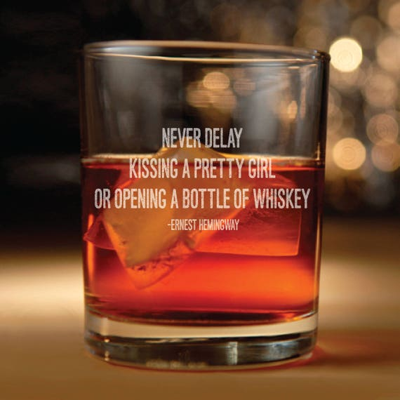 Ernest Hemingway Whiskey Glass