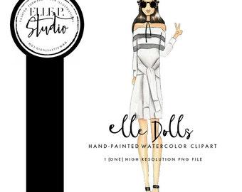 Fashion Icon Girl Clipart / Fashion Blogger Illustration