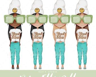 Y2K Baby Elle Dolls / Girl Clipart/ Girl Illustration/Planner Icon / Fashion Girl Clipart - 4 Baby Elle Dolls Included!