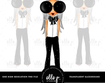 Baby Elle Doll Clipart/Girl Illustration/ Fashion Icon / Fashion Girl Clipart