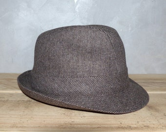 3121408a1bc Hat men fedora Hat waterproof vintage FRANCE 50 s Hat man Federal  waterproof FRANCE 50 s vintage hat