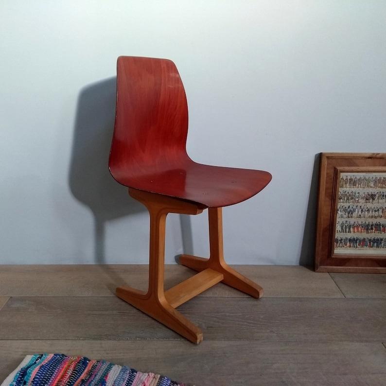 Kleiner Stuhl Mahagoni Nachttisch Vintage Flototto Holzdesign Etsy