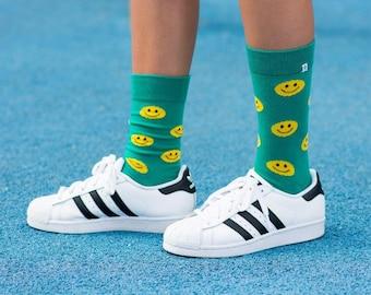 Smileys Emoji Green Socks