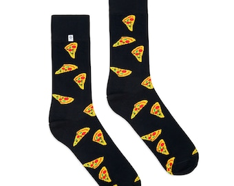 Funky Socks with Pizza pattern