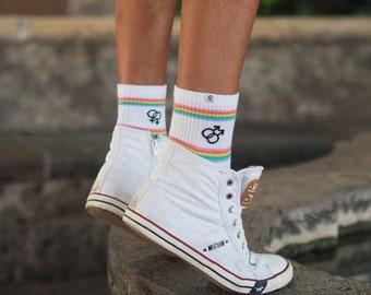 Free Planet Pride Rainbow Socks