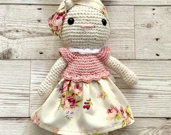 Handmade Crochet Bunny, Crochet Amigurumi, Crochet Doll