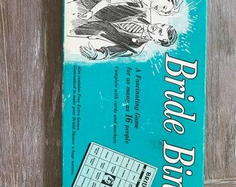 vintage bachelorette party or bridal shower bride bingo game